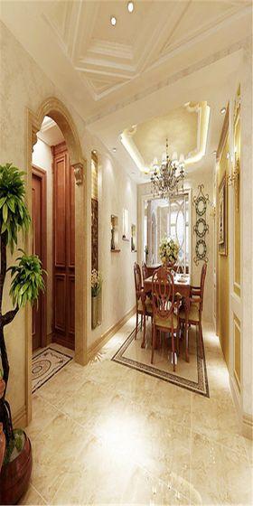 140平米四室兩廳歐式風格餐廳裝修圖片大全