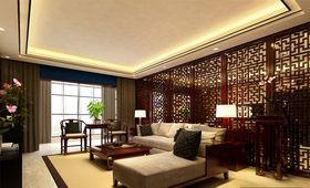 90平米三室两厅中式风格客厅装修案例