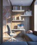 100平米三欧式风格书房装修案例