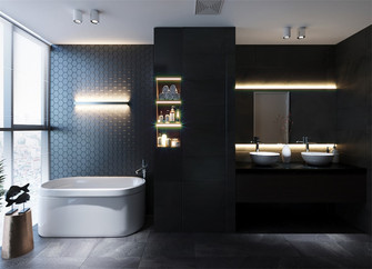 110平米三室两厅现代简约风格卫生间欣赏图