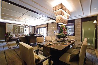 110平米三室一厅东南亚风格餐厅图片大全