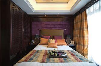 120平米三室一厅东南亚风格卧室欣赏图