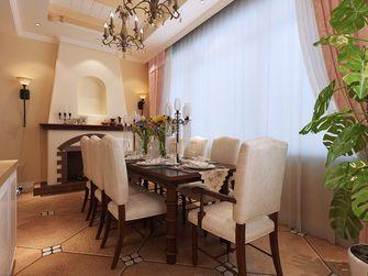 140平米别墅田园风格餐厅装修案例