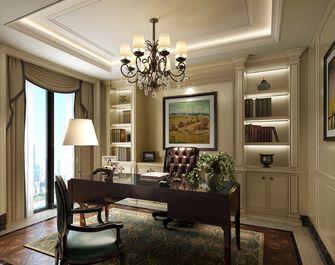140平米别墅英伦风格书房装修案例