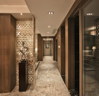 140平米三室四厅中式风格走廊图