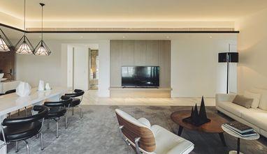 120平米三室两厅现代简约风格客厅图片