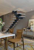 80平米复式现代简约风格楼梯间设计图