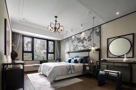 130平米复式中式风格卧室装修图片大全