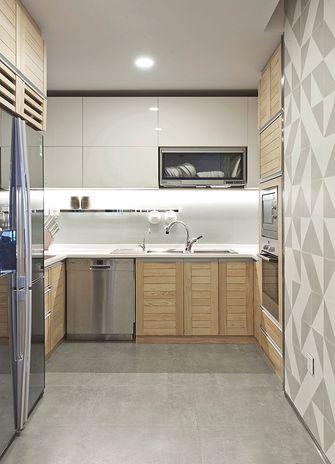 100平米现代简约风格厨房橱柜图片大全