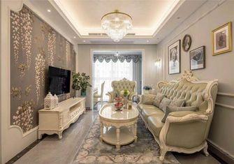 90平米三室两厅欧式风格客厅图