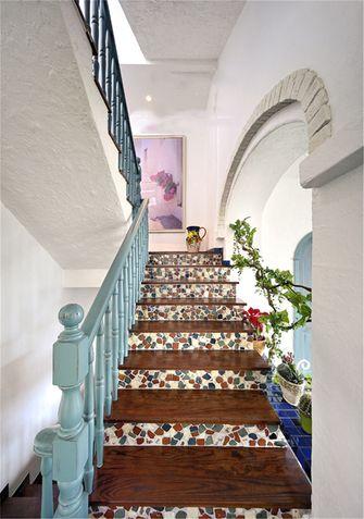 豪华型140平米别墅地中海风格楼梯间装修图片大全