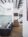 富裕型30平米以下超小户型北欧风格楼梯图片