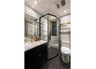 80平米三室一厅新古典风格卫生间设计图