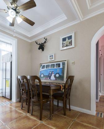 经济型80平米三室两厅现代简约风格餐厅设计图