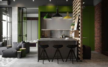 60平米一居室北欧风格餐厅图片
