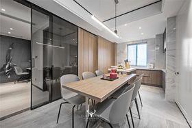 豪華型130平米三室兩廳現代簡約風格餐廳欣賞圖