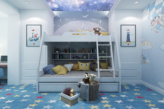 140平米复式新古典风格儿童房欣赏图