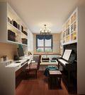 130平米三室两厅欧式风格书房橱柜设计图