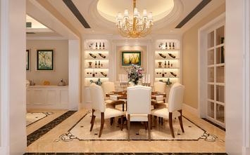 130平米三室两厅美式风格储藏室设计图