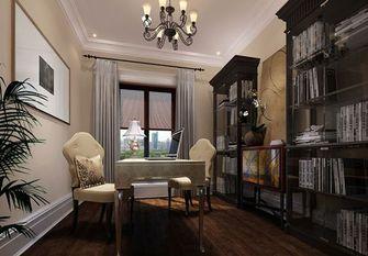 110平米三室一厅英伦风格书房装修效果图
