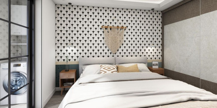 50平米一居室北欧风格卧室装修图片大全