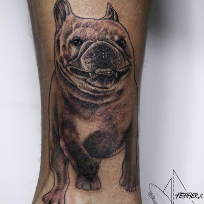写实宠物法斗纹身款式图