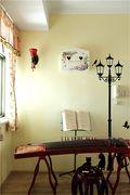 经济型100平米三室两厅田园风格影音室装修案例