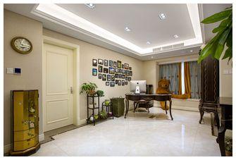 120平米美式风格玄关背景墙装修案例