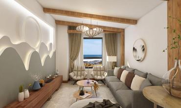 60平米中式风格客厅图片