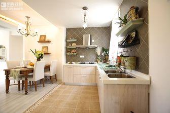 110平米三室两厅美式风格厨房橱柜装修图片大全