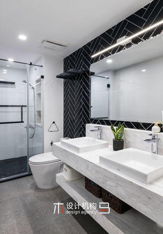 经济型80平米三室两厅北欧风格卫生间装修案例