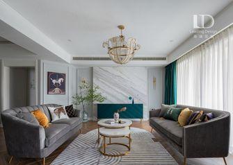 130平米三室两厅英伦风格客厅装修效果图