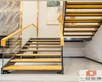 140平米三室一厅宜家风格楼梯间装修图片大全