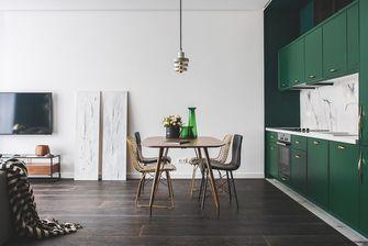 70平米公寓英伦风格餐厅装修效果图