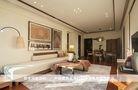 100平米三室三厅东南亚风格客厅装修图片大全