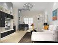 100平米三室一厅现代简约风格客厅背景墙效果图