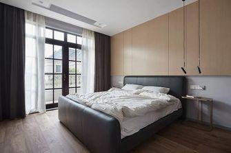 130平米三室一厅混搭风格卧室图片大全