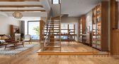 140平米三室一厅日式风格楼梯间装修效果图