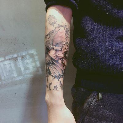 欧美包小臂纹身图