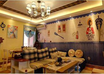 90平米三室两厅地中海风格客厅效果图