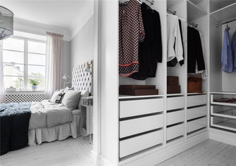 110平米三室两厅北欧风格衣帽间装修效果图