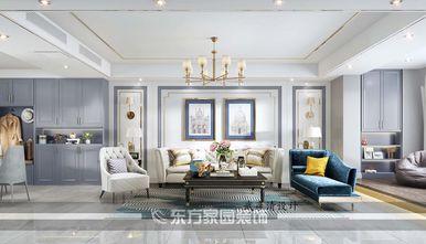 120平米三室两厅新古典风格客厅装修效果图