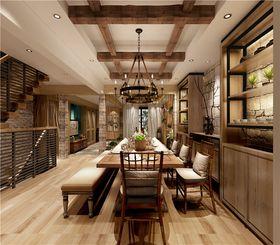 140平米别墅田园风格餐厅装修效果图