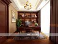 140平米四室三厅法式风格书房图