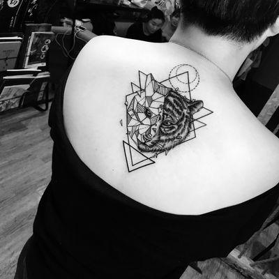 虎头纹身款式图