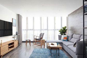 90平米复式北欧风格客厅飘窗装修效果图