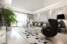 100平米三室兩廳現代簡約風格客廳設計圖