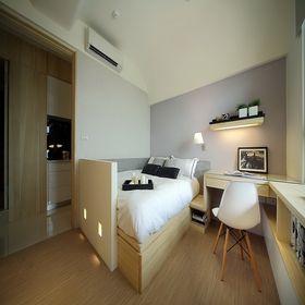 100平米三室一厅田园风格卧室图