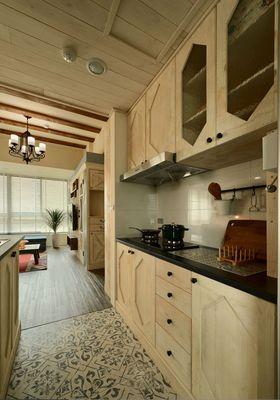 80平米田园风格厨房欣赏图