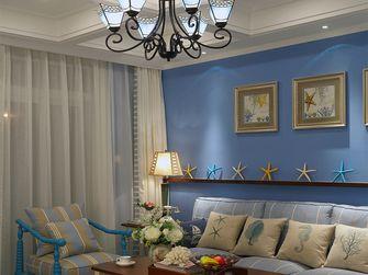 50平米一室两厅地中海风格客厅设计图